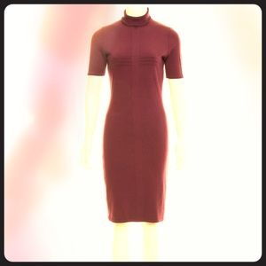 Versace knit dress in beautiful eggplant color, 4